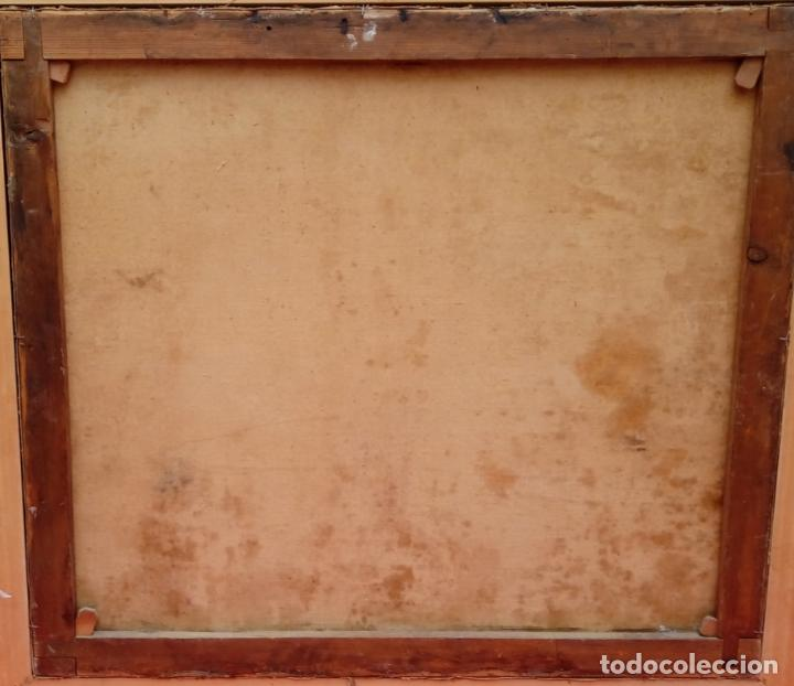 Arte: ÓLEO S/LIENZO -REBECA-. ESCUELA ITALIANA S. XVIII. DIM.- 96X87 CMS. - Foto 7 - 100768371