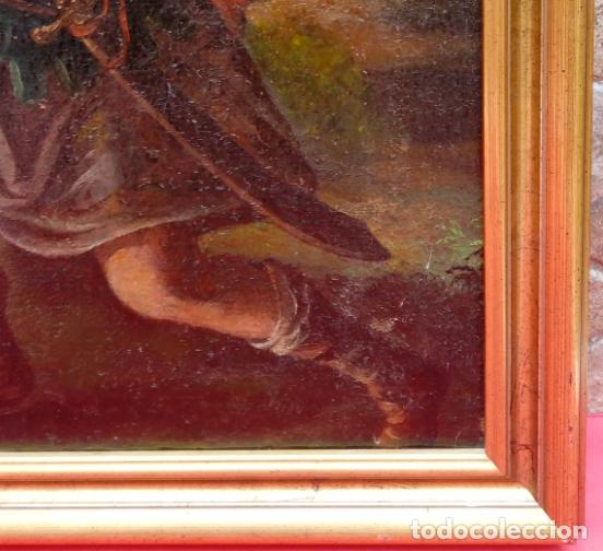 Arte: ÓLEO S/LIENZO -REBECA-. ESCUELA ITALIANA S. XVIII. DIM.- 96X87 CMS. - Foto 8 - 100768371