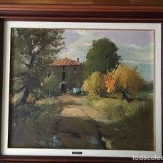 Arte: JOAN SOLER GIL, MASIA CATALANA 54X54CM. .OLEO SOBRE TELA ENMARCADO EN MADERA. Lote 100889403