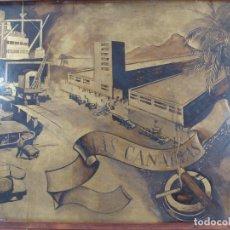 Arte: ÓLEO SOBRE TABLERO ISLAS CANARIAS - ESCUELA DE SERT - PRINCIPIOS SIGLO XX.. Lote 100921671