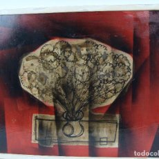 Arte: ÓLEO SOBRE TABLERO FLORERO - FIRMADO. Lote 100922623