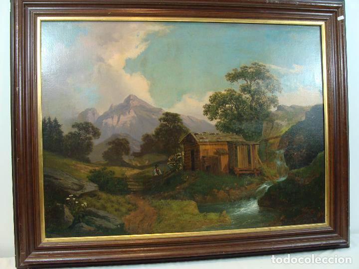 ÓLEO SOBRE LIENZO PAISAJE - PRINCIPIOS SIGLO XIX (Arte - Pintura - Pintura al Óleo Moderna siglo XIX)