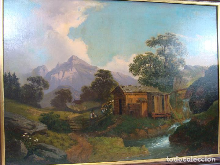 Arte: Óleo sobre lienzo Paisaje - Principios Siglo XIX - Foto 2 - 100926411