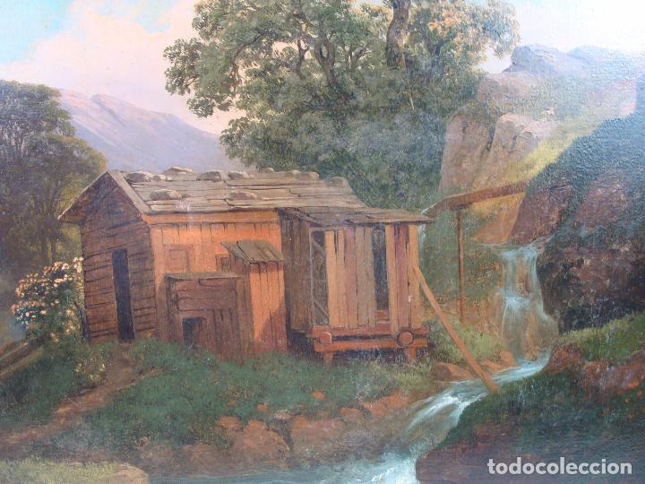 Arte: Óleo sobre lienzo Paisaje - Principios Siglo XIX - Foto 3 - 100926411