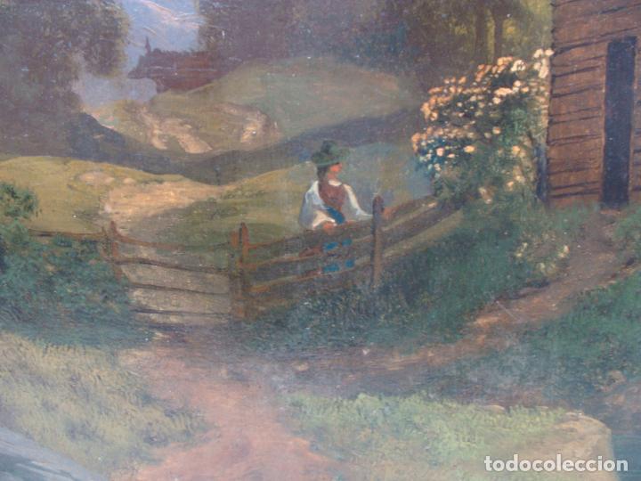 Arte: Óleo sobre lienzo Paisaje - Principios Siglo XIX - Foto 4 - 100926411