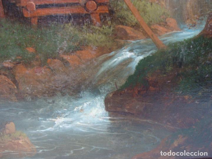 Arte: Óleo sobre lienzo Paisaje - Principios Siglo XIX - Foto 5 - 100926411