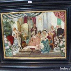Arte: OLEO SOBRE TABLA ESCENA COSTUMBRISTA - SIGLO XVIII. Lote 100934975