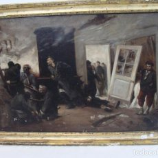 Arte: OLEO SOBRE LIENZO ESCENA DE GUERRA - SIGLO XIX. Lote 100935811