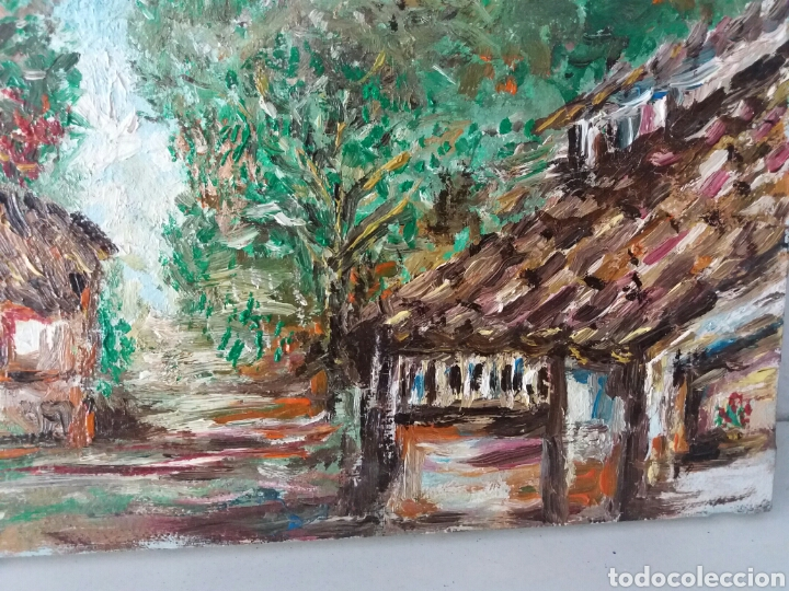 Arte: Cuadro al oleo firmado....tema casa rural...pintura a mano sobre tela - Foto 2 - 100964527