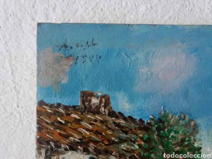 Arte: Cuadro al oleo firmado....tema casa rural...pintura a mano sobre tela - Foto 3 - 100964527