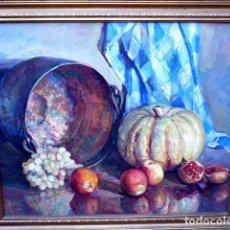 Arte: ÓLEO SOBRE TELA.SEBASTIÀ FREIXAS VIVÓ.CAPELLADES 1930-2006.BODEGÓN.. Lote 101106411