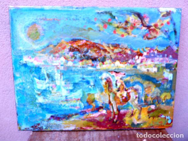 ÓLEO SOBRE TELA.RAMÓN BOTER.(BARCELONA 1954).ESCUELA SANVISENS (Arte - Pintura - Pintura al Óleo Contemporánea )