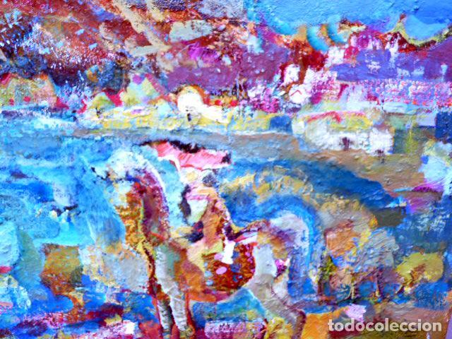 Arte: óleo sobre tela.Ramón Boter.(Barcelona 1954).Escuela Sanvisens - Foto 3 - 101106963