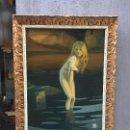 Arte: NINFA DEL LAGO, PINTURA SIMBOLISTA. Lote 101326479