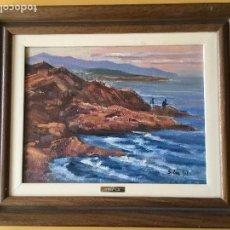 Arte: JOAN SOLER GIL ,COSTA BRAVA- 5-FIGURA 35X27 CM.ENMARCADO EN MADERA. Lote 101352083