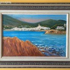 Arte: JOAN SOLER GIL ,COSTA BRAVA- 41X27 CM.ENMARCADO EN MADERA. Lote 101352271