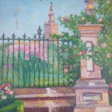Arte: OLEO SOBRE CARTÓN, RINCÓN DE SEVILLA. Lote 101369911