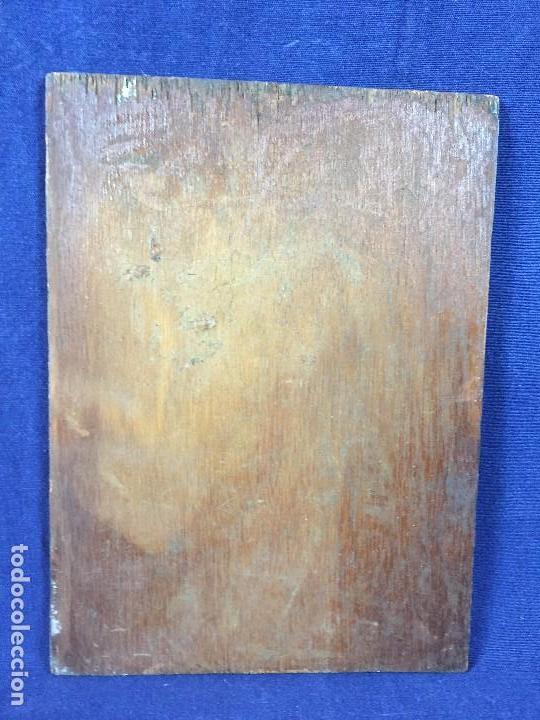 Arte: oleo tabla pesadilla sueño furia mujer recostada mitad s XX anonimo no firma araluce 26x19cms - Foto 9 - 101487471