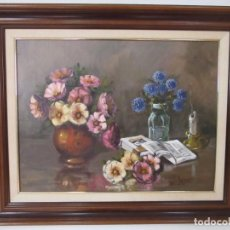 Arte: ÓLEO SOBRE TELA - BODEGÓN - FIRMA LL. PRESSEGUER - ENMARCADO. Lote 101591595