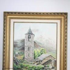 Arte: PINTURA AL ÓLEO SOBRE LIENZO - BOHÍ, LLEIDA. FIRMADA MIQUEL / J. MIQUEL ACEVEDO CASTELLANOS. Lote 101623895