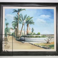 Arte: PINTURA AL ÓLEO SOBRE LIENZO - SITGES, LA SIRENA. FIRMADA MIQUEL / J. MIQUEL ACEVEDO CASTELLANOS. Lote 101625731