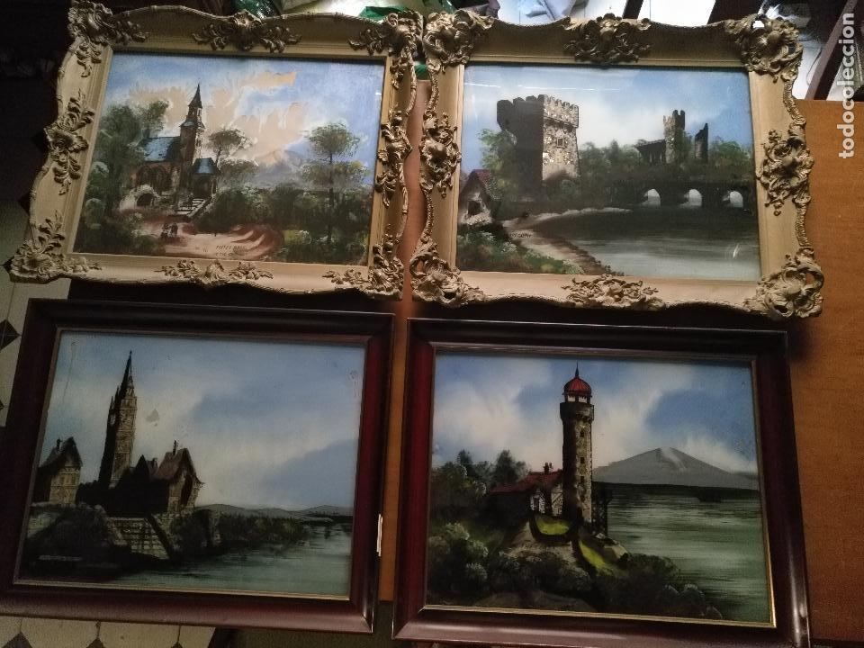 4 marcos cuadros pintura - antigua coleccion de - Comprar Pintura al ...