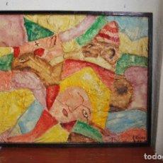 Arte: PINTURA AL ÓLEO - TÉCNICA MIXTA - ELÍAS ESTRADA GAMÓN - EL CIRCO - 1972. Lote 101650099