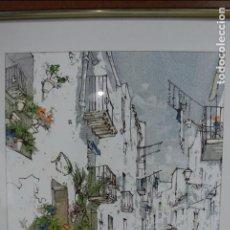 Arte: CUADRO, ACRILICO SOBRE TELA, SERIGRAFIA. FIRMADO BERNARD DUFOUR.. Lote 101736479