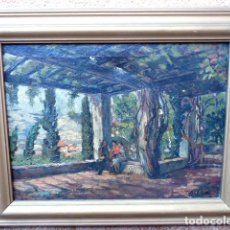 Arte: ÓLEO SOBRE TELA.JOAN SOLÁ ROMÁ(GIRONA 1893)ESCUELA CATALANA.BUEN TRAZO.. Lote 101775279
