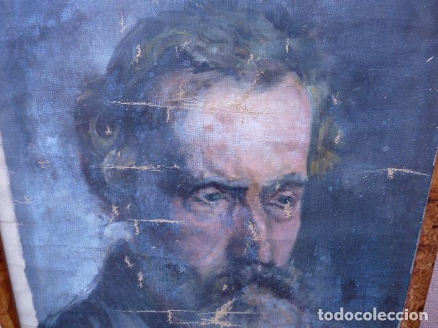 Arte: óleo sobre tela,anónimo.buena calidad.retrato. - Foto 2 - 101775587