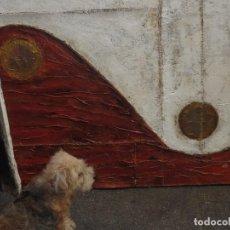 Arte: MURAL PINTURA ANTIGUA FIRMA ILEGIBLE ASTRACTO OLEO EN LIENZO GRUESO 120 X 96 CIRCULO DE BAEZA. Lote 101976839