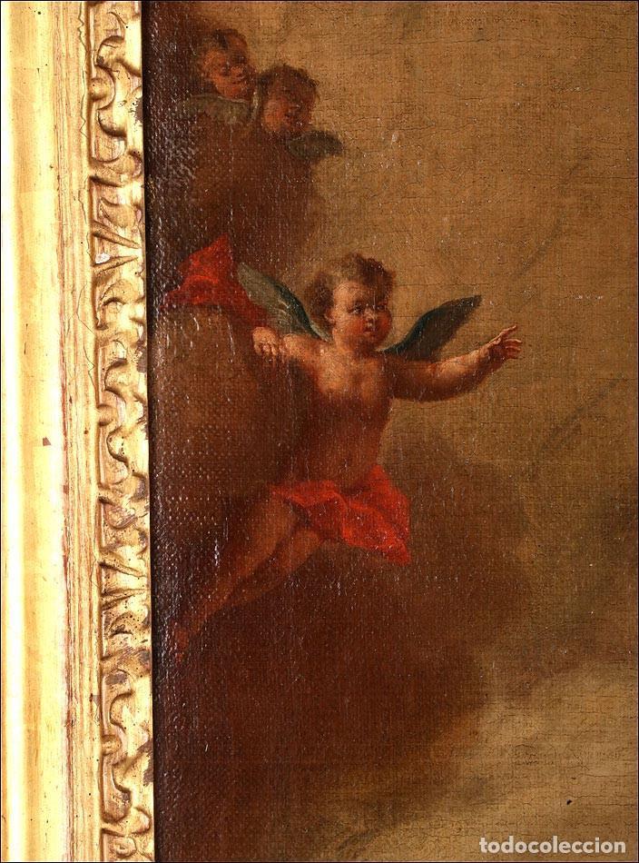 """Arte: Óleo """"La Resurrección de Lázaro"""". Pintura Original de Gran Belleza. Escuela Española, 1777 - Foto 6 - 101979227"""