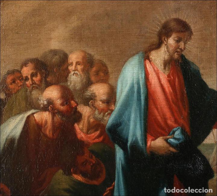 """Arte: Óleo """"La Resurrección de Lázaro"""". Pintura Original de Gran Belleza. Escuela Española, 1777 - Foto 12 - 101979227"""