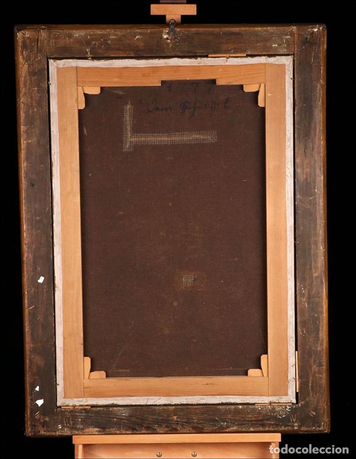 """Arte: Óleo """"La Resurrección de Lázaro"""". Pintura Original de Gran Belleza. Escuela Española, 1777 - Foto 13 - 101979227"""