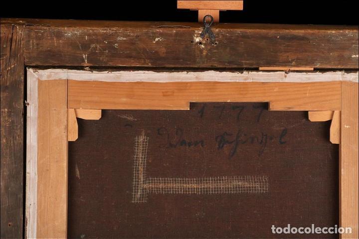 """Arte: Óleo """"La Resurrección de Lázaro"""". Pintura Original de Gran Belleza. Escuela Española, 1777 - Foto 14 - 101979227"""