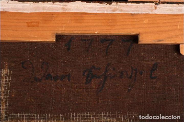 """Arte: Óleo """"La Resurrección de Lázaro"""". Pintura Original de Gran Belleza. Escuela Española, 1777 - Foto 15 - 101979227"""
