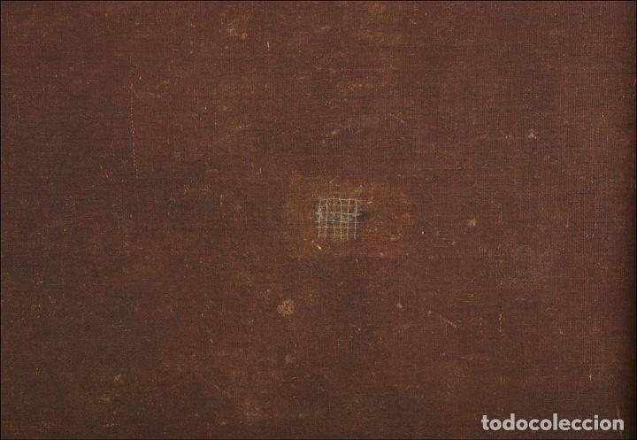 """Arte: Óleo """"La Resurrección de Lázaro"""". Pintura Original de Gran Belleza. Escuela Española, 1777 - Foto 16 - 101979227"""