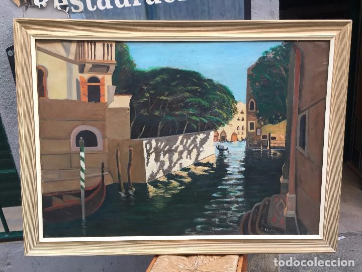 INTERESANTE VISTA DE VENECIA , LOS CANALES (Arte - Pintura - Pintura al Óleo Moderna sin fecha definida)
