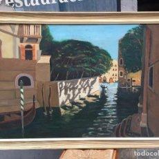 Arte: INTERESANTE VISTA DE VENECIA , LOS CANALES. Lote 102005739