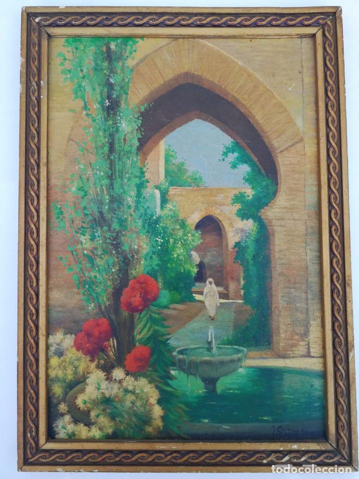 J. CAMPOY - OLEO SOBRE TABLA (Arte - Pintura - Pintura al Óleo Contemporánea )