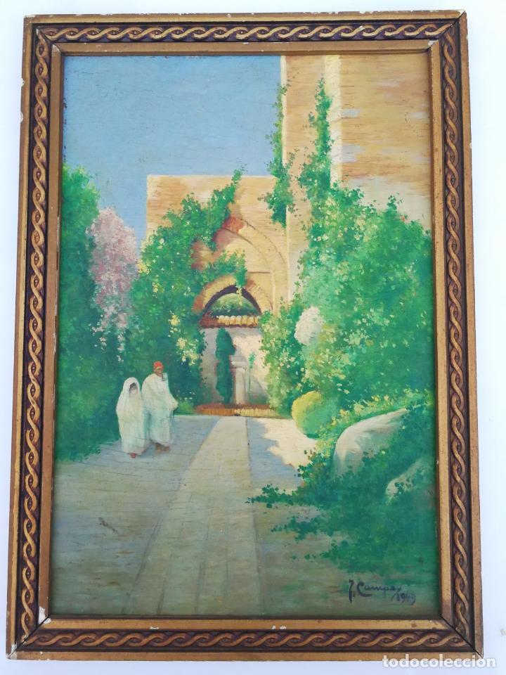 J. CAMPOY - OLEO SOBRE TABLA - 1949 (Arte - Pintura - Pintura al Óleo Contemporánea )