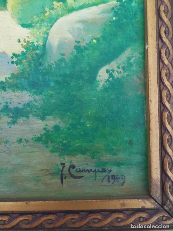 Arte: J. Campoy - Oleo sobre tabla - 1949 - Foto 2 - 102022227