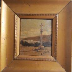 Arte: ANTIGUO OLEO SOBRE TABLA, F. DE IBARRA, ENMARCADO. S.XIX, FIRMADO Y ENMARCADO 26X27CM PRECIO 150€. Lote 102068487