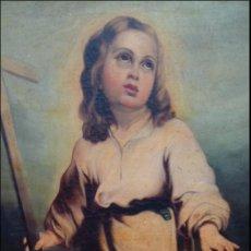 Arte: ÓLEO S/LIENZO -NIÑO PASIONARIO-. ESCUELA SEVILLANA S. XVIII-XIX. . DIM.- 120X100 CMS. Lote 102105279