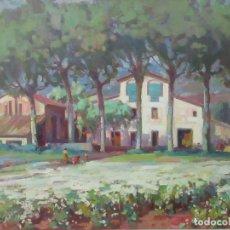Arte: BONITO ÓLEO SOBRE TELA - X. VIÑOLAS Y PUJOL (OLOT, 1915-2002) - PAISAJE RURAL. Lote 102150227