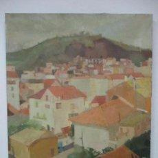 Arte: BONITO ÓLEO SOBRE TELA - RAFAEL GRIERA CALDERÓN, 1934 - PAISAJE DE OLOT - DATA AÑO 1966. Lote 102151707