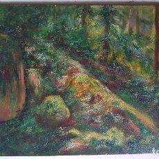 Arte: ANTIGUO OLEO SOBRE TABLA.ANONIMO.ESCUELA CATALANA.. Lote 102187331