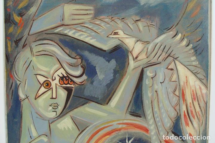 Arte: Óleo sobre lienzo - Firmado - Siglo XX - Foto 2 - 102346995