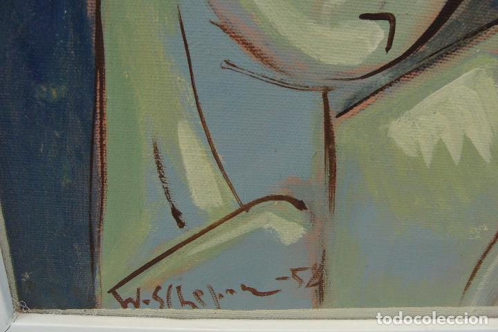 Arte: Óleo sobre lienzo - Firmado - Siglo XX - Foto 3 - 102346995