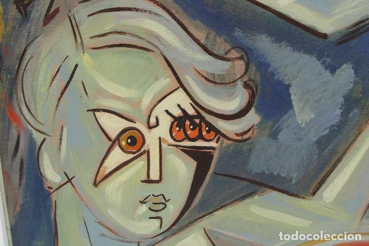 Arte: Óleo sobre lienzo - Firmado - Siglo XX - Foto 4 - 102346995